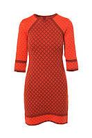 SEWEL Платье PW328 (42-44, морковный, терракот, 60% акрил/ 30% шерсть/ 10% эластан)