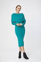 SEWEL Платье PW180 (44-46-48, петроль, 60% акрил/ 30% шерсть/ 10% эластан)