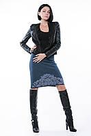 SEWEL Юбка UW363 (46-48, джинс, светло-серый, 50% шерсть/ 50% акрил)