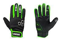 Рукавички ONRIDE Pleasure 20 чорний/зелений XL