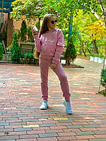 Теплый костюм на флисе для девочки 134,140,146,152