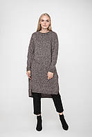 SEWEL Платье PW712 (One Size, пудра меланж, 67% акрил/ 29% хлопок/ 4% полиамид)