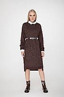SEWEL Платье PW712 (One Size, бордо меланж, 67% акрил/ 29% хлопок/ 4% полиамид)