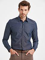 Мужская рубашка LC Waikiki / ЛС Вайкики серо-синего цвета, фото 1
