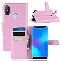 Чехол-книжка Litchie Wallet для Doogee X70 Светло-розовый