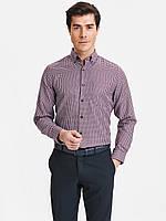 Мужская рубашка LC Waikiki / ЛС Вайкики в сине-красную клетку с карманом на груди, фото 1