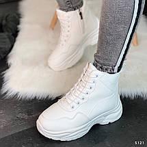 Белые зимние ботинки женские, фото 3