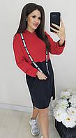 Платье спорт красное