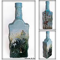Подарок охотнику на день рождения Декор бутылки «Охота» Ручная работа