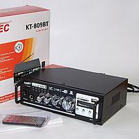 Стерео усилитель звука мощности КТ-809ВТ / Ресивер / Проигрыватель / Универсальный усилок для дома и в машину