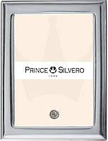 Глянцевая серебряная рамка для фото 18х24 Prince Silvreo