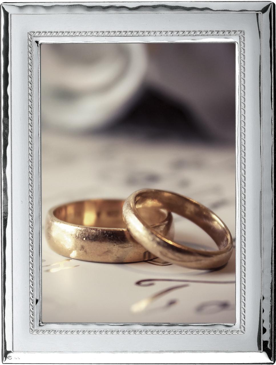Фоторамка на свадьбу  18х24 из серебра 925 Prince Silvreo, Греция