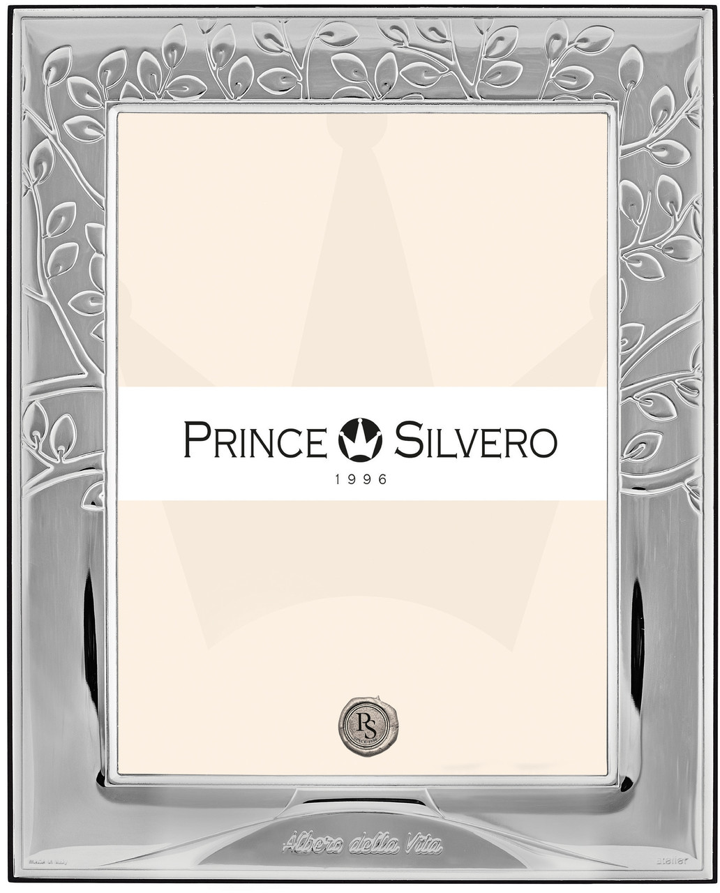 Серебряная рамка с узорами 20Χ25 для фото Prince Silvreo