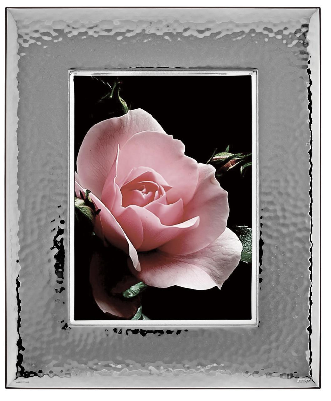 Блестящая серебряная рамка 18х24 для фото Prince Silvreo