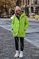 Двусторонняя куртка женская ВШ/-1153 - Черно-салатовый, фото 1