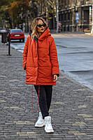 Двостороння куртка жіноча ВШ/-1153 - Чорно-червоний, фото 1