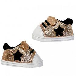Обувь для куклы Беби Борн - Блестящие кеды Gold (золотистые) - Baby Born, Zapf Creation 3+ (826997)