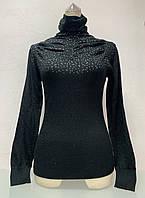 Свитер женский под горло черный, фото 1