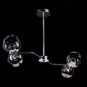 Люстра в стиле лофт на 4 лампочки P5-N3542/4/BK+CH