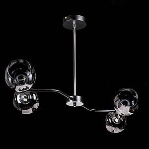 Люстра в стилі лофт на 4 лампочки P5-N3542/4/BK+CH