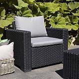 Набор садовой мебели California Duo Set Graphite ( графит ) из искусственного ротанга, фото 7