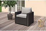 Набор садовой мебели California Duo Set Graphite ( графит ) из искусственного ротанга, фото 6