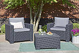 Набор садовой мебели California Duo Set Graphite ( графит ) из искусственного ротанга, фото 9