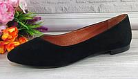 Черные замшевые балетки от производителя, фото 1