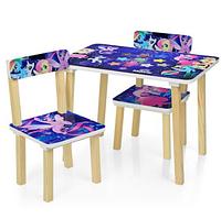 Детский столик и два стульчика 501-55 для девочек,My Little Pony