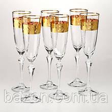 Набор бокалов для шампанского Crystalex 6 штук 220 мл