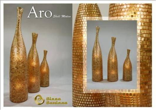 ARO Напольная лампа М - Золотая ракушка
