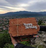 """Деревянная подарочная коробка """"Чемодан"""""""