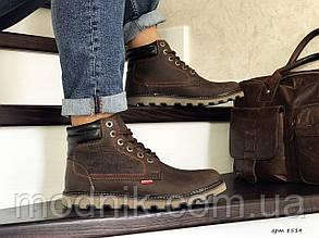 Чоловічі черевики Levis (темно-коричневі) ЗИМА