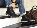 Мужские ботинки Levis (черные) ЗИМА, фото 3