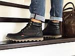 Мужские ботинки Levis (черные) ЗИМА, фото 4