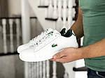 Мужские кроссовки Lacoste (бело-зеленые), фото 2
