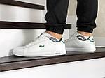 Мужские кроссовки Lacoste (бело-зеленые), фото 3