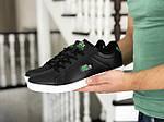 Мужские кроссовки Lacoste (черно-белые), фото 2