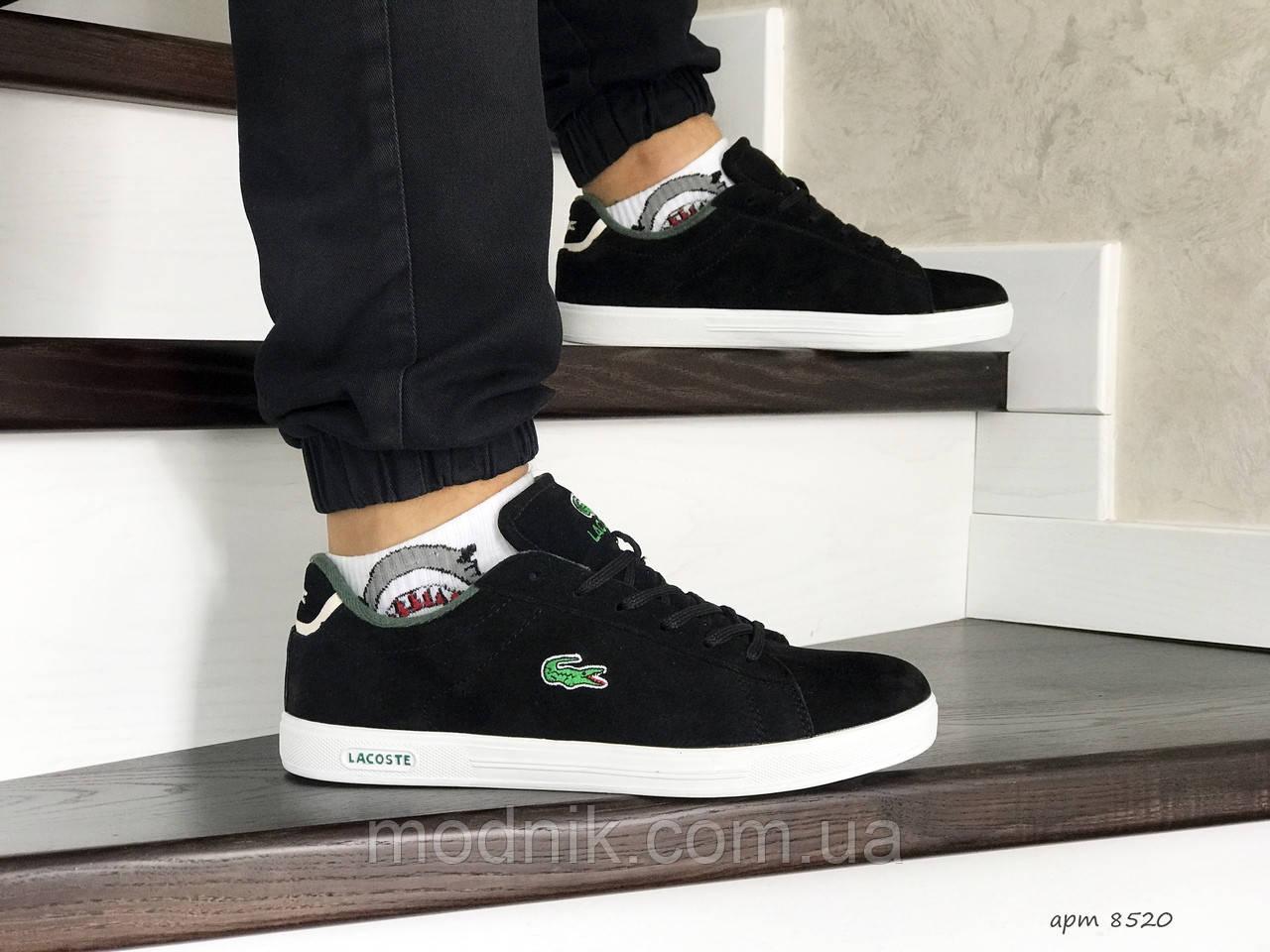 Мужские кроссовки Lacoste (черно-белые)