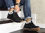 Мужские кроссовки New Balance 574 (черно-коричневые) ЗИМА, фото 2
