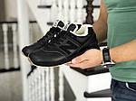 Мужские кроссовки New Balance 574 (черно-коричневые) ЗИМА, фото 3