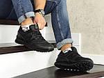 Мужские кроссовки New Balance 574 (черные) ЗИМА, фото 3