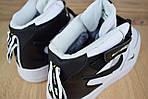 Мужские зимние кроссовки Nike Air Force 1 Mid 07 LV8 Utility (бело-черные), фото 6