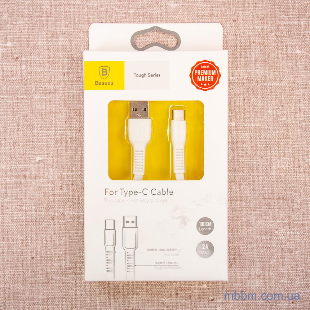 Кабель Baseus Tough USB to Type-C 1m White ,CATZY-B02, EAN / UPC: 6953156263741