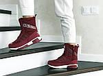 Женские зимние дутики Adidas (бордовые), фото 2