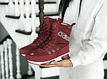 Женские зимние дутики Adidas (бордовые), фото 4