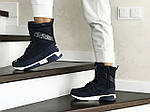 Женские зимние дутики Adidas (темно-синие), фото 3