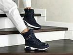 Женские зимние дутики Adidas (темно-синие), фото 4