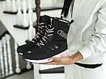 Женские зимние дутики Adidas (черно-белые), фото 3