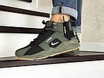 Зимние кроссовки Nike Huarache (темно-зеленые), фото 2